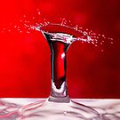 Red Column Water Drop Collision by Steven Green