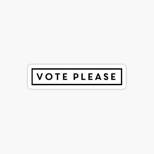 Vote Please Sticker
