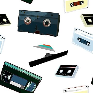 VHS and Cassette Tapes: OLD 1980's MEDIA! by sandpaperdaisy
