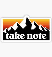Take Note mountains Sticker