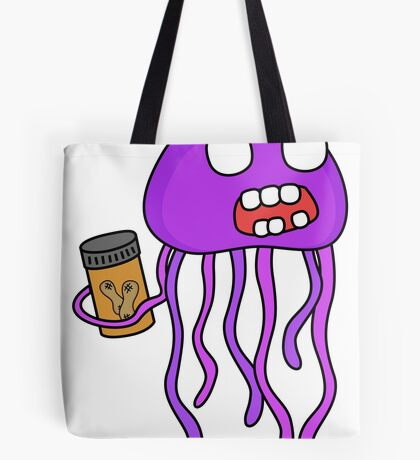 angry zombie jellyfish Tote Bag