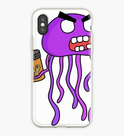 angry zombie jellyfish iPhone Case