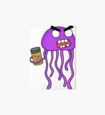 angry zombie jellyfish Art Board