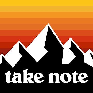 Take Note mountains by SaturdayAC