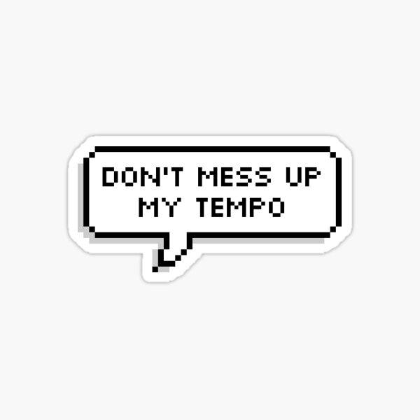 exo don't mess up my tempo sticker Sticker