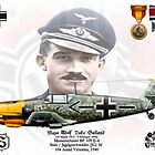 Major Adolf Galland by AH-Aviation-Art