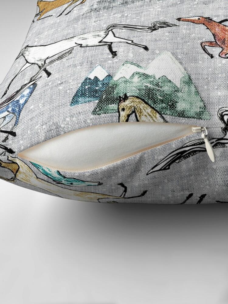 Alternate view of Mt Kosciuszko Brumbies Throw Pillow