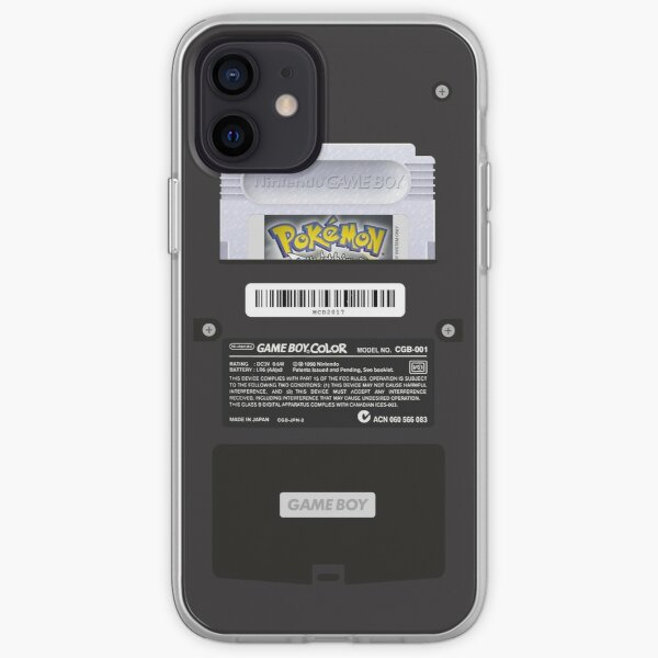 Black Gameboy Color - Silver Cartridge iPhone Soft Case