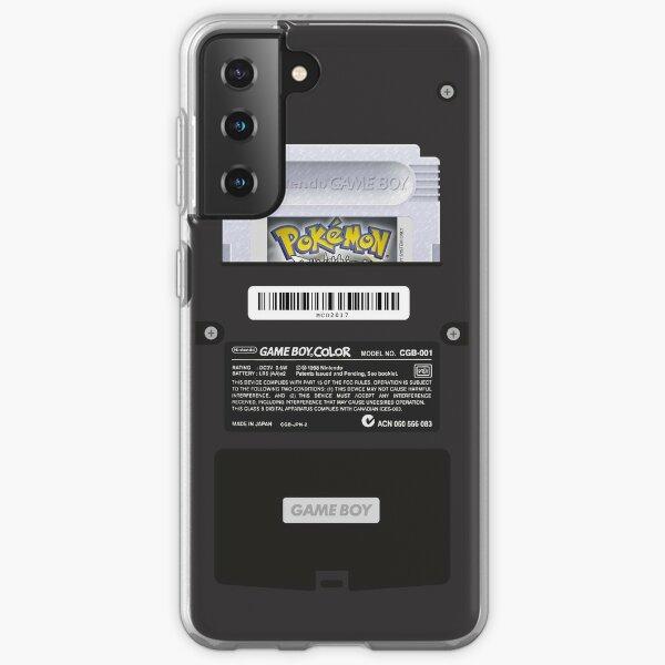 Black Gameboy Color - Silver Cartridge Samsung Galaxy Soft Case