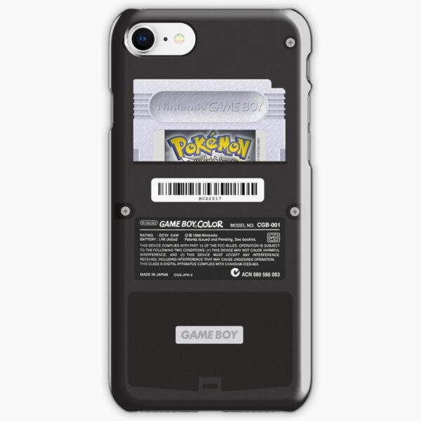 Black Gameboy Color - Silver Cartridge iPhone Snap Case