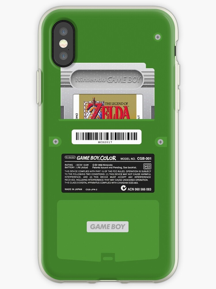 various colors b927f 14b9a 'Green GameBoy Color Back - Link's awakening' iPhone Case by MarcoD