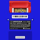Blue GameBoy Color Back - Red Cartridge by MarcoD