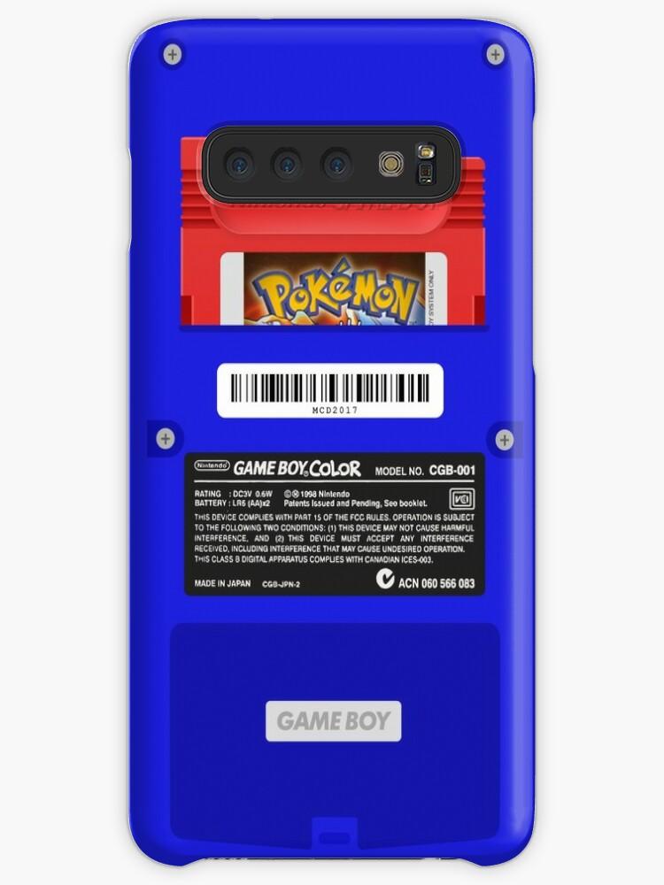 «Blue GameBoy Color Back - Cartucho rojo» de MarcoD