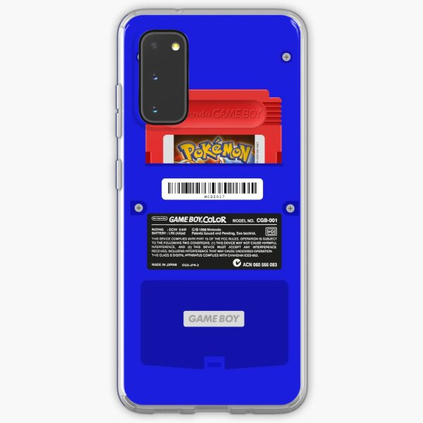 Blue GameBoy Color Back - Red Cartridge Samsung Galaxy Soft Case