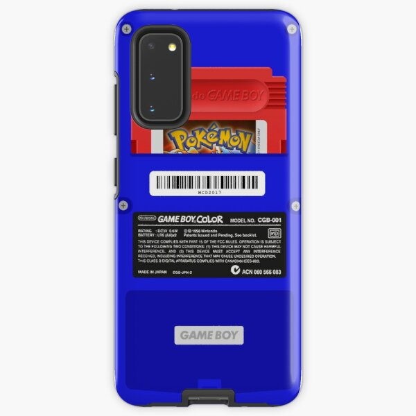 Blue GameBoy Color Back - Red Cartridge Samsung Galaxy Tough Case