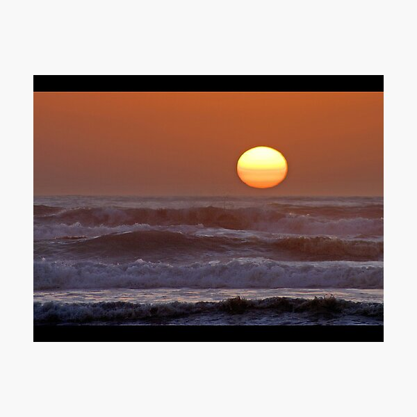 Sinking Into The Raging Sea Photographic Print
