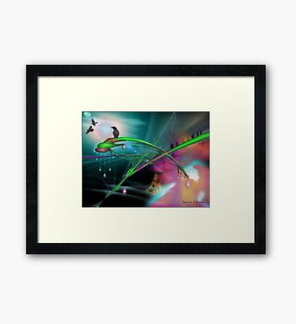 Someday (an image, a poem & music)  Framed Print