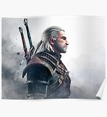 witcher geralt warrior Poster