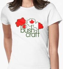 Bushcraft Canada flag Women's Fitted T-Shirt