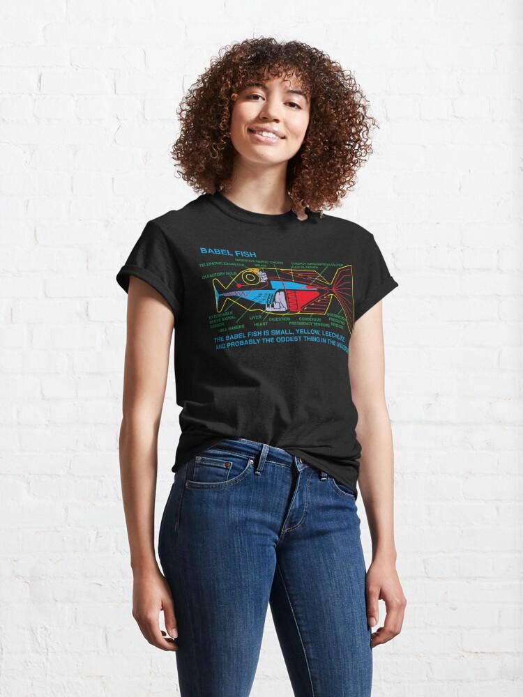 Alternate view of NDVH Babel Fish H2G2 Classic T-Shirt