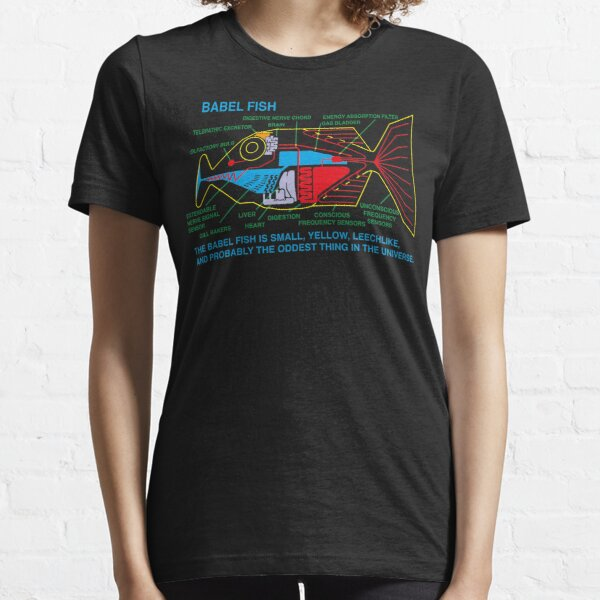 NDVH Babel Fish H2G2 Essential T-Shirt