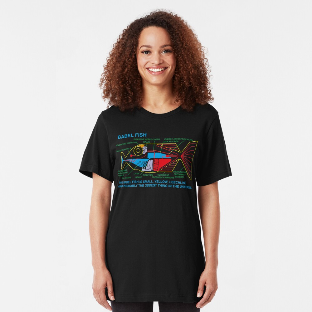 NDVH Babel Fish H2G2 Slim Fit T-Shirt