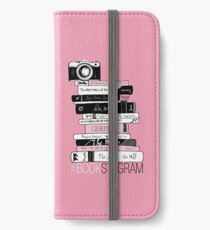 #BOOKSTAGRAM - Stack of Books (Pink) iPhone Wallet/Case/Skin