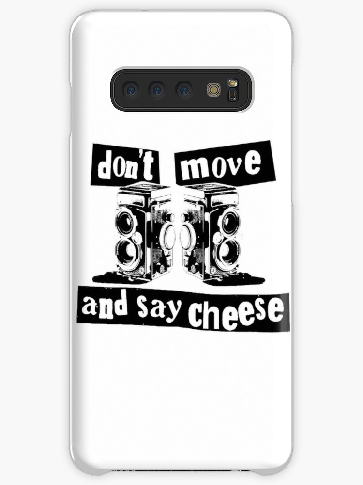 Quote - don't move and say cheese, black by Adarve  Photocollage