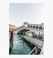 Rialto Bridge Venice Photographic Print