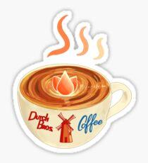 Cup of coffee Dutch bros tulip Sticker