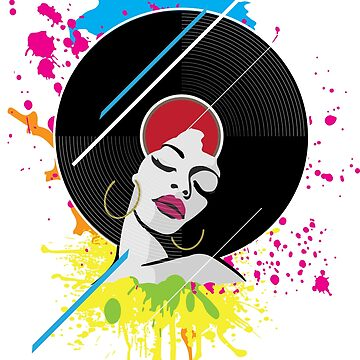 Black Woman Disco Retro Afro American Tops & T-Shirt Gift by Nslock5000