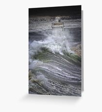 Brute Force, Wick Lighthouse, Caithness, Scotland Greeting Card