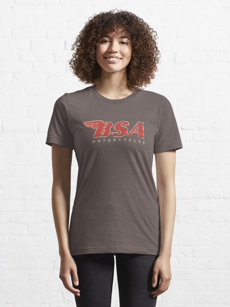 Alternate view of BSA Motorcycle Distressed Design Logo T Shirt Essential T-Shirt