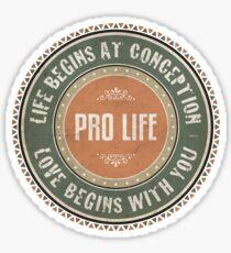 Pro Life Sticker