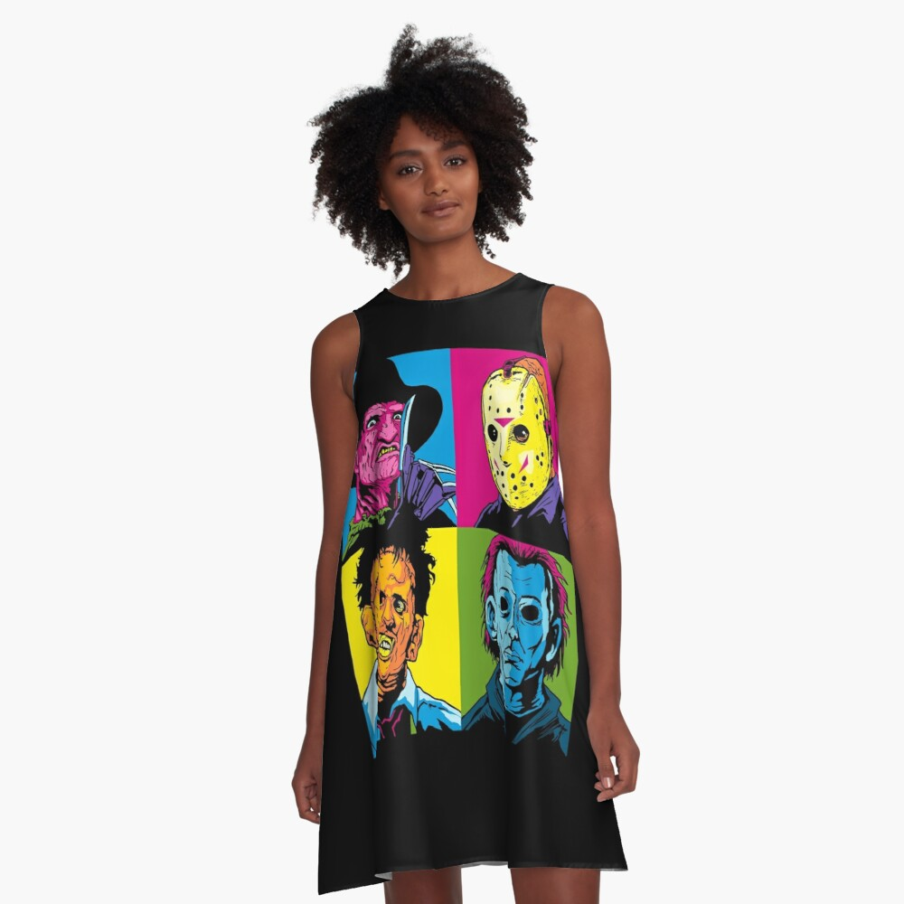 POP HORROR A-Linien Kleid