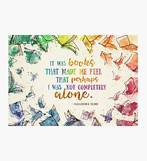 It was books Photographic Print