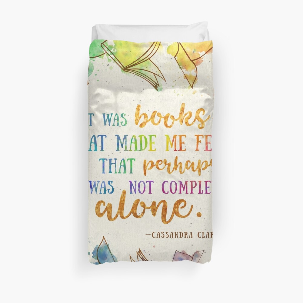 It was books Duvet Cover