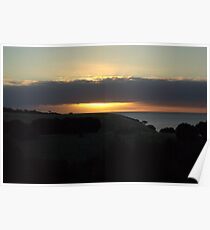 The sun sinks at Snellings Beach Poster