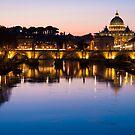 Dusk Over the Tiber by Rae Tucker