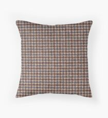 Brown Tweed fabric texture Throw Pillow