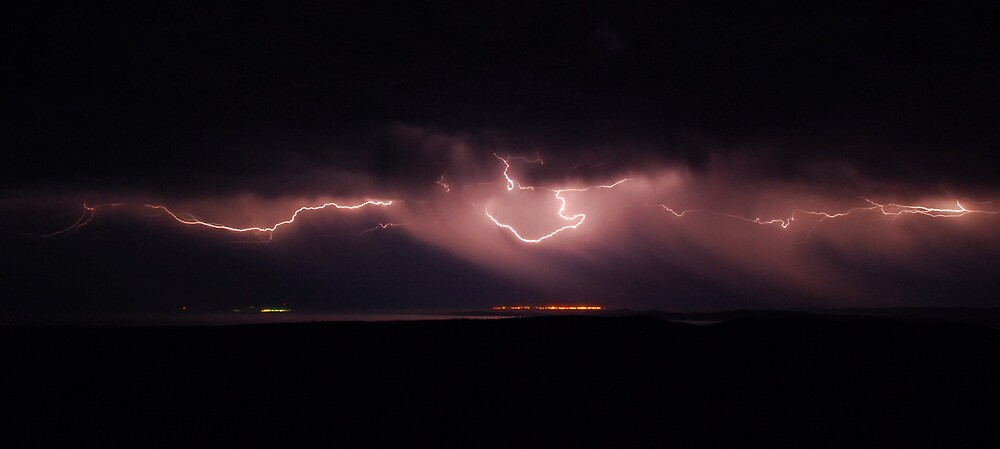 u0026quot sheet lightning over port germain u0026quot  by wayne england