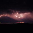 Sheet lightning over Port Germain by Wayne England