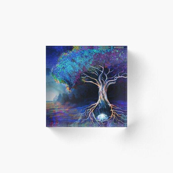 Tree Of Life - Tapestry Acrylic Block