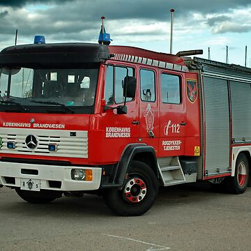 Fire brigade vehicle of the Danish fire brigade by trainmaniac