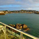 St Ives Harbour, Cornwall - Late Afternoon Sun - Calm Sea by mcworldent