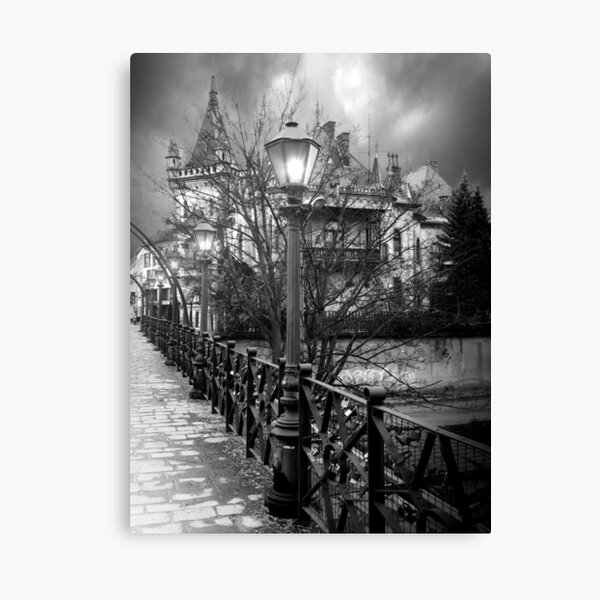 Jacob's Palace, Kosice, Slovakia - Black And White Canvas Print