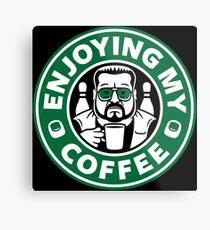 Enjoying My Coffee Metal Print