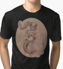 Mermaid with her pet Merbunny  Tri-blend T-Shirt