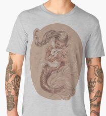 Mermaid mit ihrem Haustier Merbunny Männer Premium T-Shirts