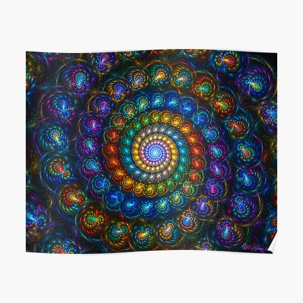 Spiral Shell Beads Poster